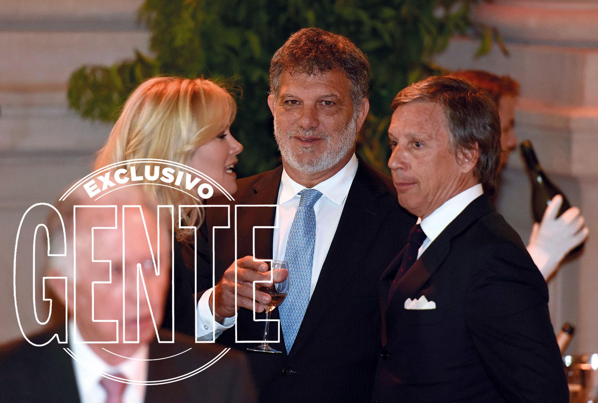 Valeria Mazza, Gianfranco Macri y Alejandro Gravier. Foto: Matías Campaya/GENTE