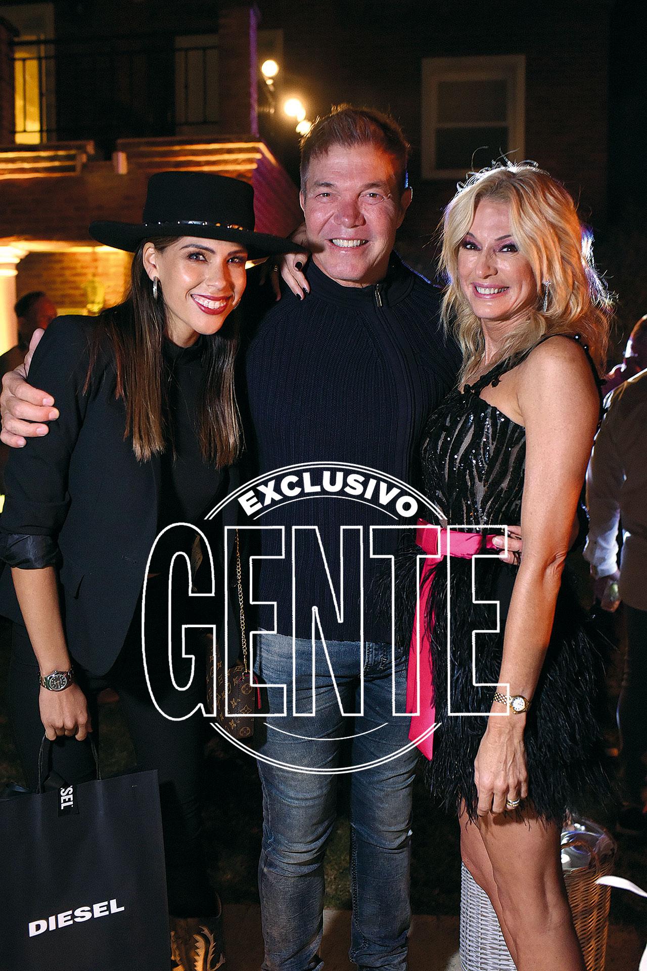 Con Barby Franco y Fernando Burlando.