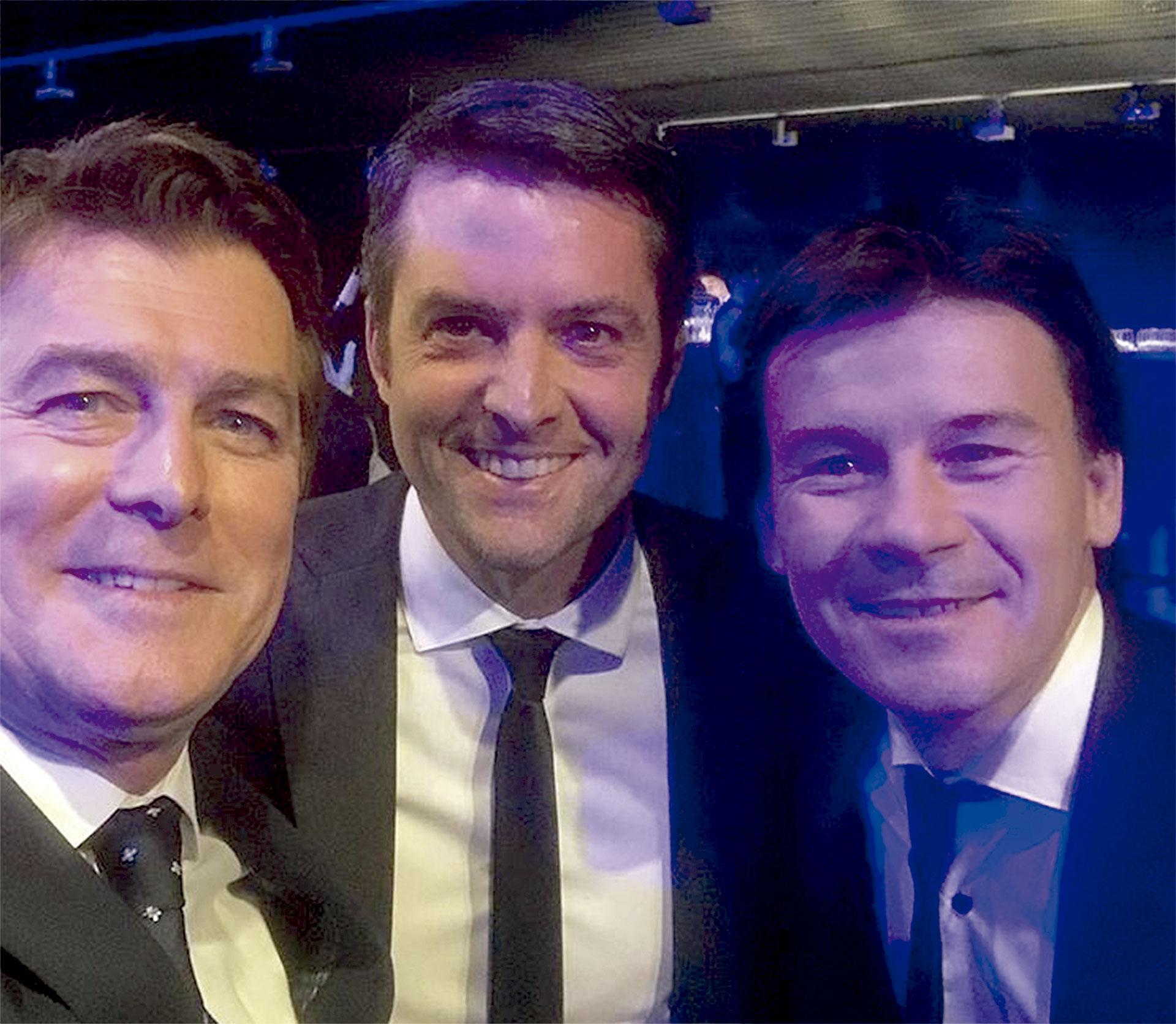 Gabriel Corrado, Agustín Calleri y Guillermo Coria. Foto: Instagram GC