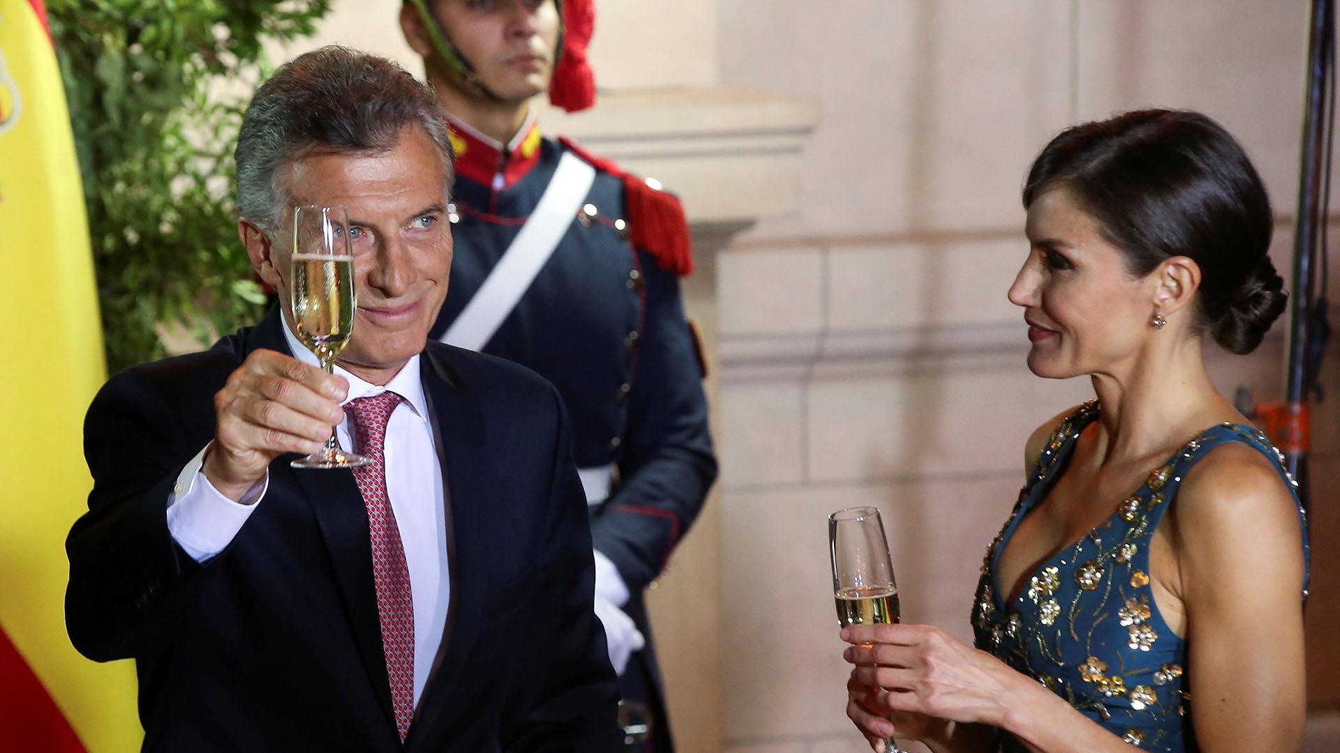 Mauricio Macri estuvo a cargo del brindis, en el que celebró el lazo entre ambas naciones.
