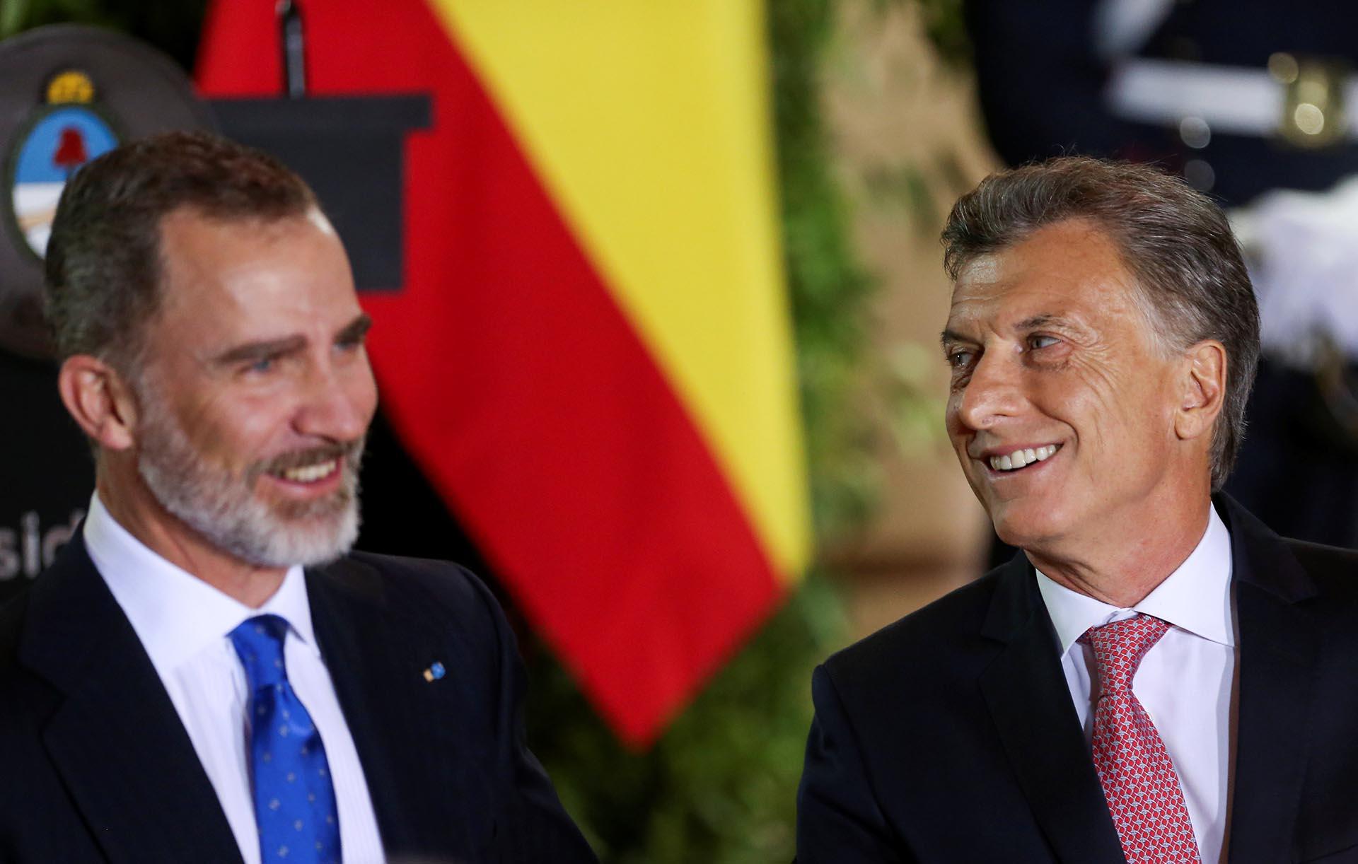 Felipe IV y Mauricio Macri seguirán reuniéndose en las próximas horas.