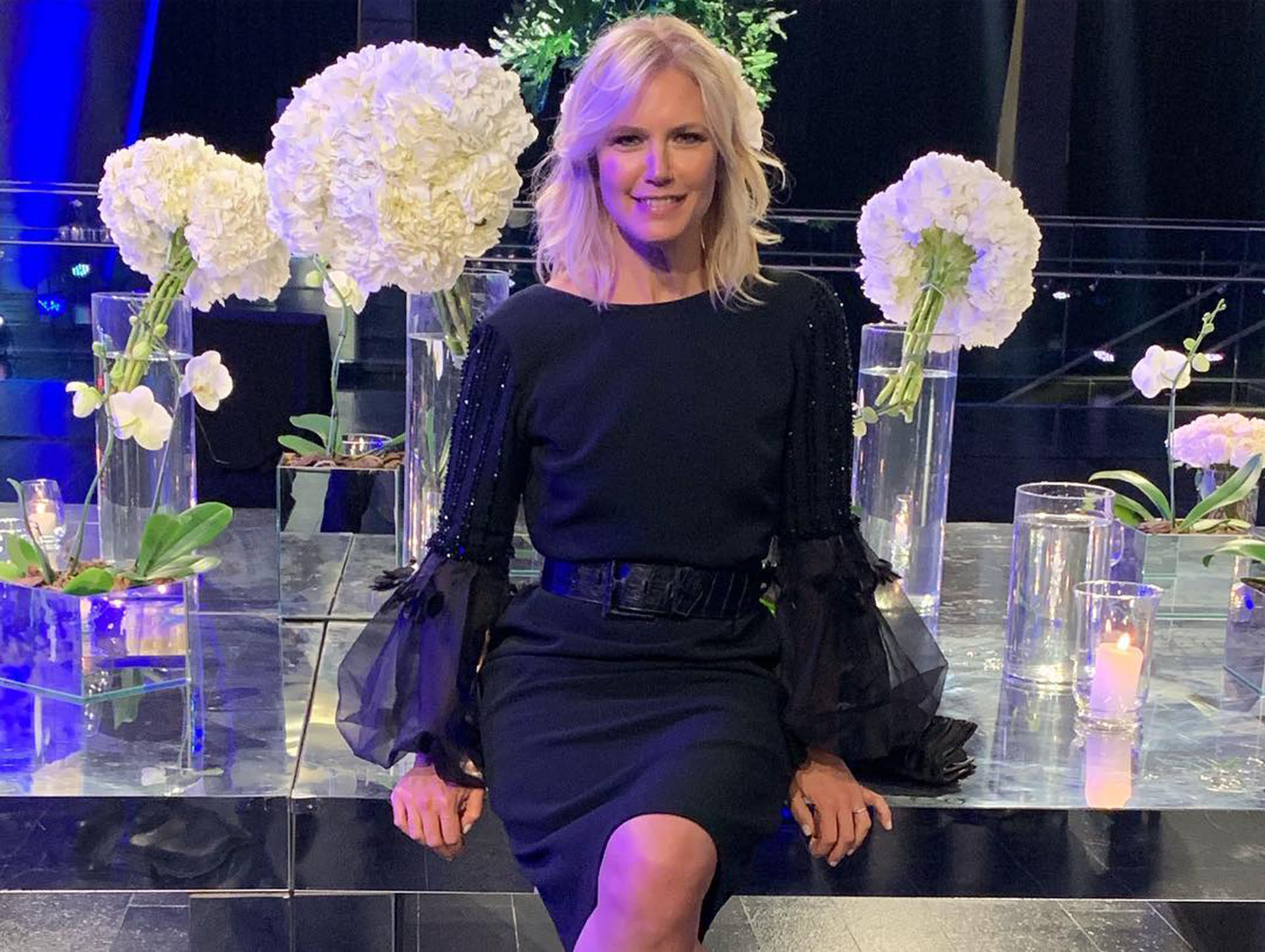 Valeria Mazza fue parte de la gala ofrecida en el CCK (Instagram: @alejandrogravier)