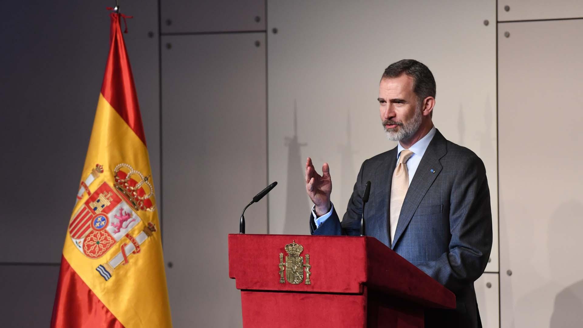 En su discurso Felipe VI resaltó que Argentina acoge casi medio millón de españoles