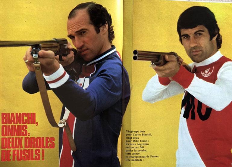 Una producción que realizó con Carlos Bianchi cuando ambos eran las estrellas en Francia