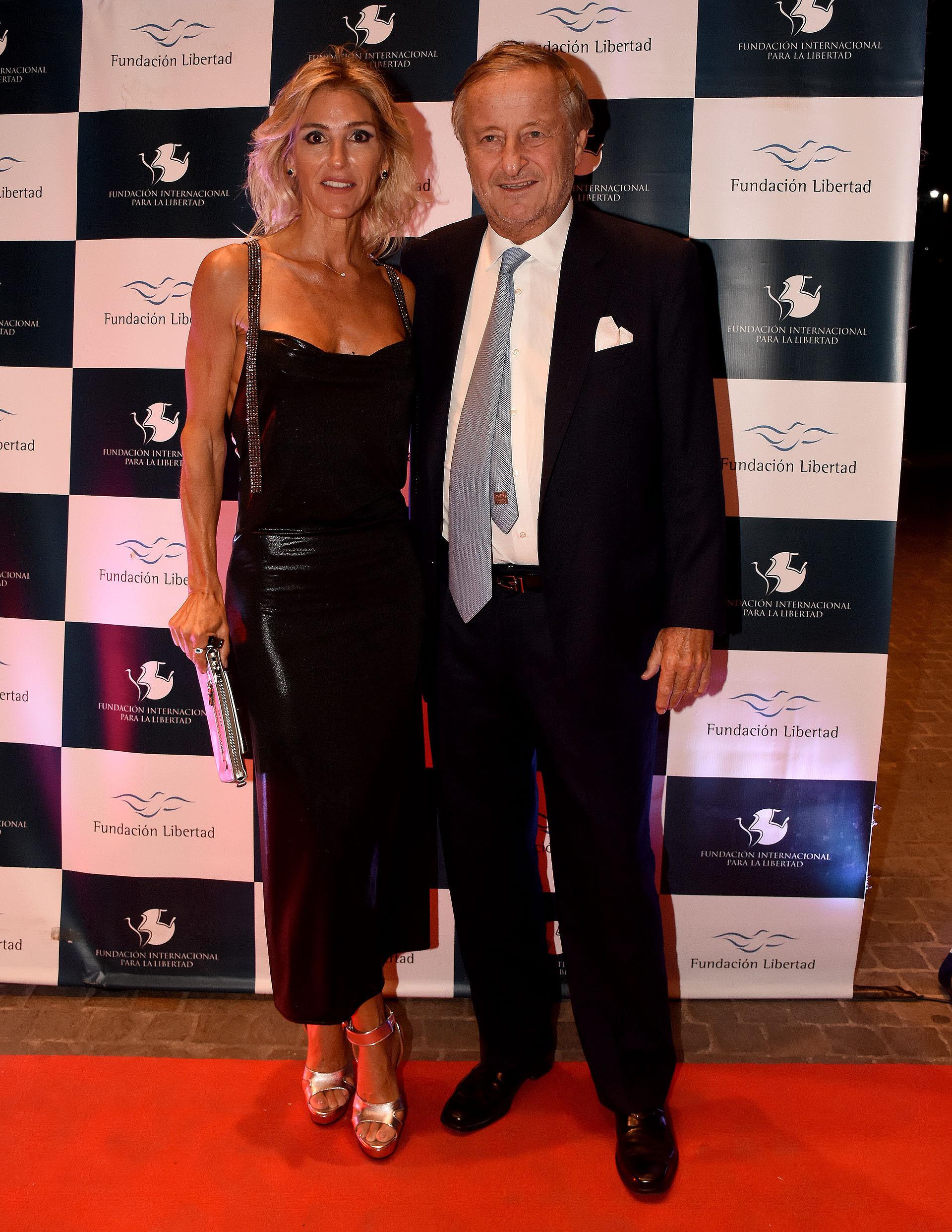 Cristiano Rattazzi, presidente de Fiat, y Gabriela Castellani