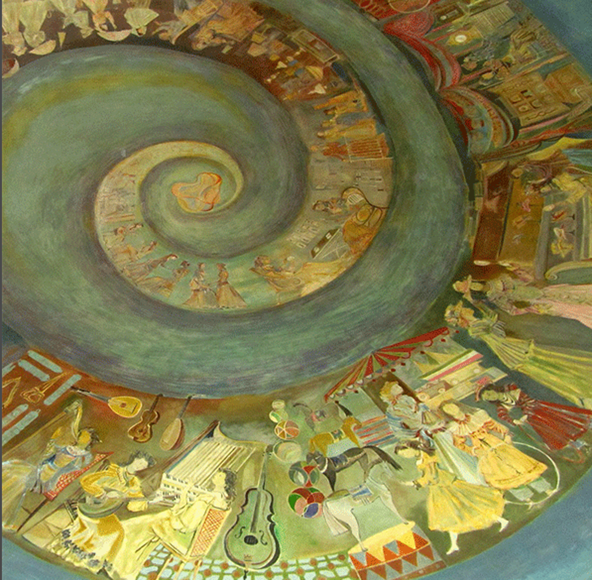 La cúpula de la Galería Santa Fe, decorada por Soldi en 1963