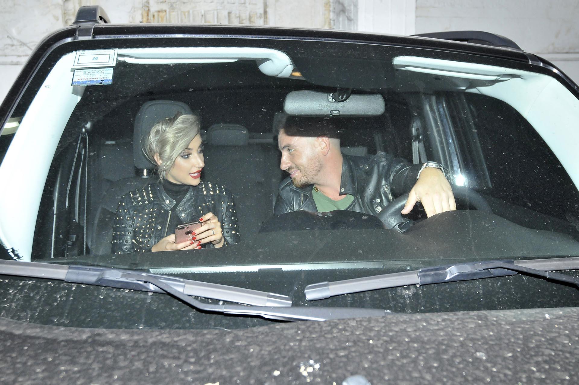 Bianca Iovenitti y Fede Bal luego de que el actor se haya deslumbrado en el escenario