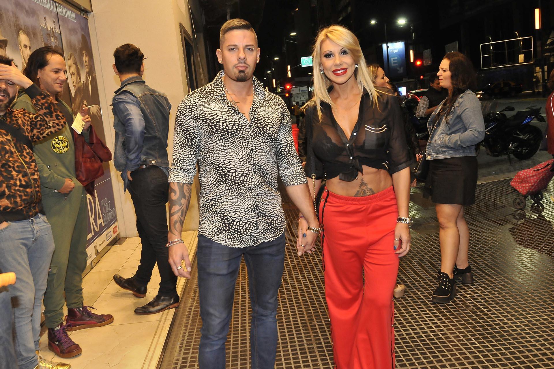 Monica Farro y su novio, Leandro Herrera