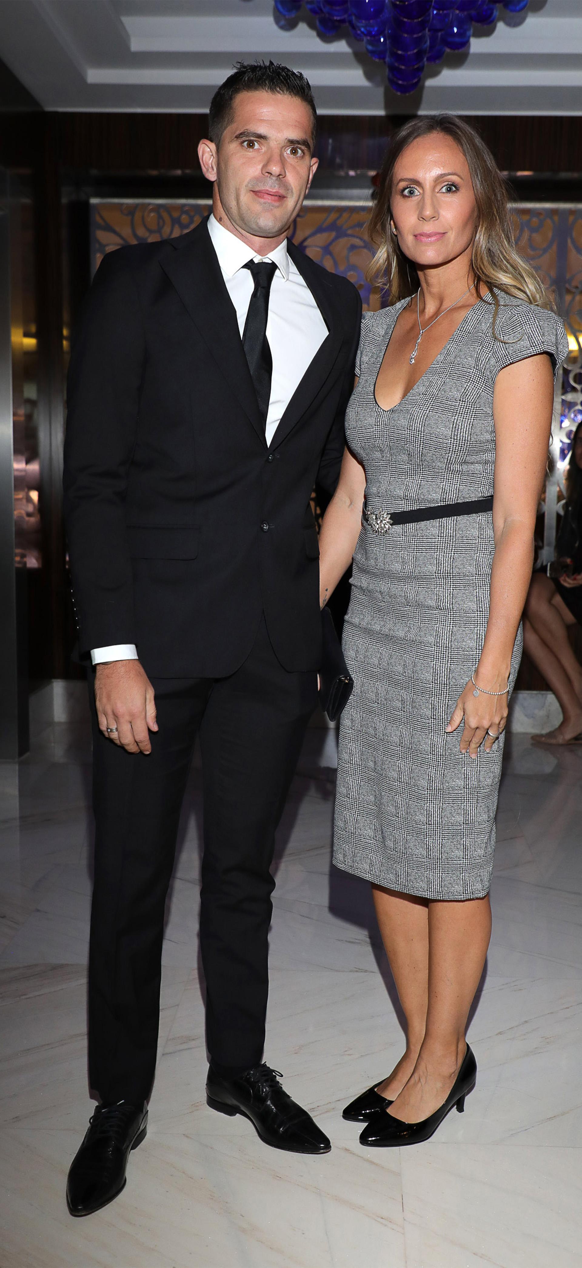 El futbolista Fernando Gago y su esposa la ex tenista Gisela Dulko