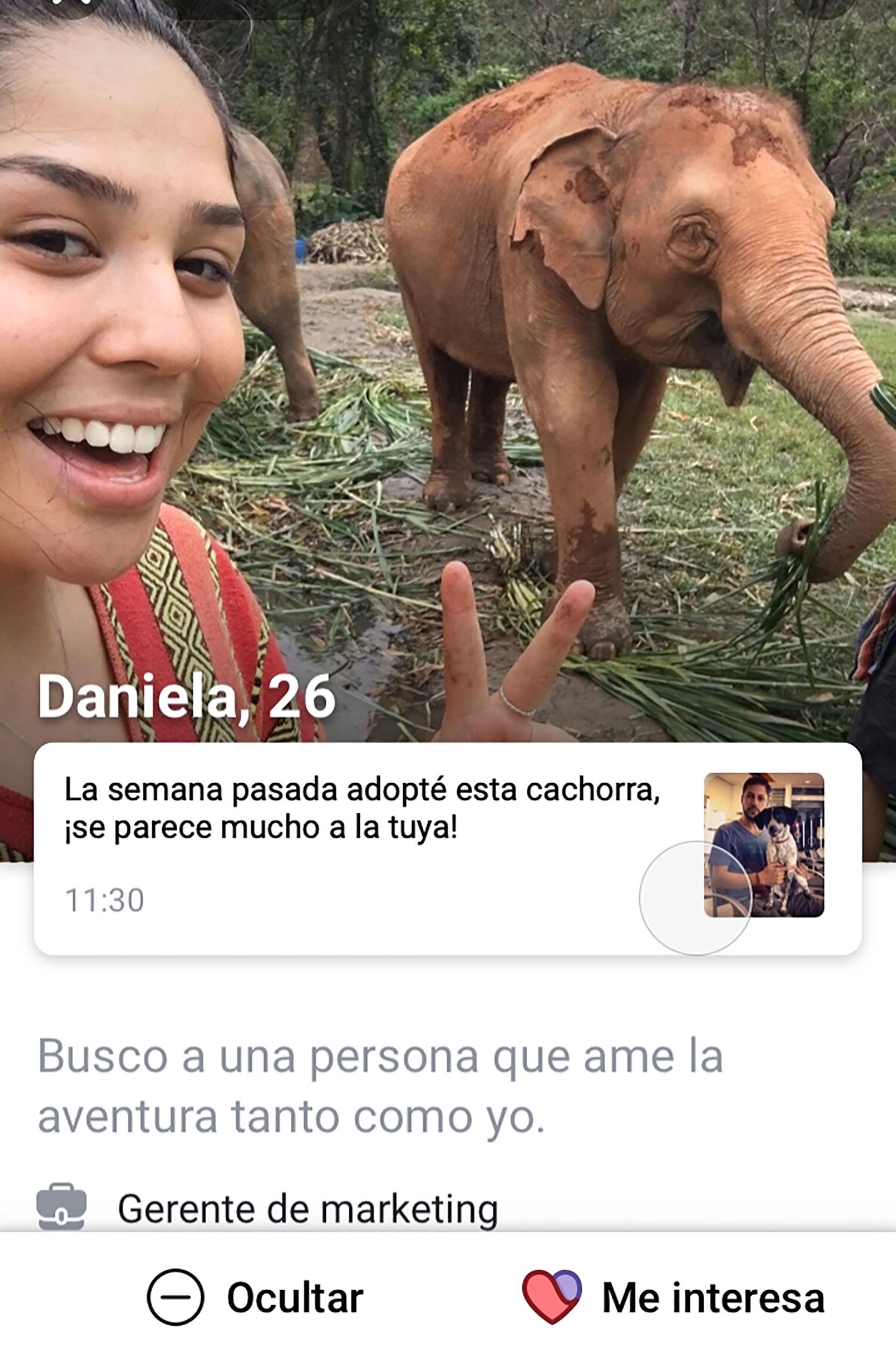 Los usuarios de Facebook Dating pueden completar su perfil con intereses y fotos.