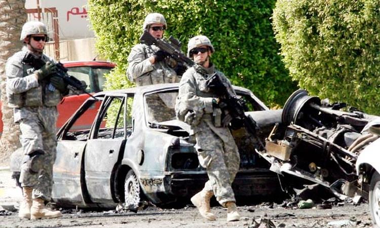 Soldados de Estados Unidos en Irak tras la invasión de 2003