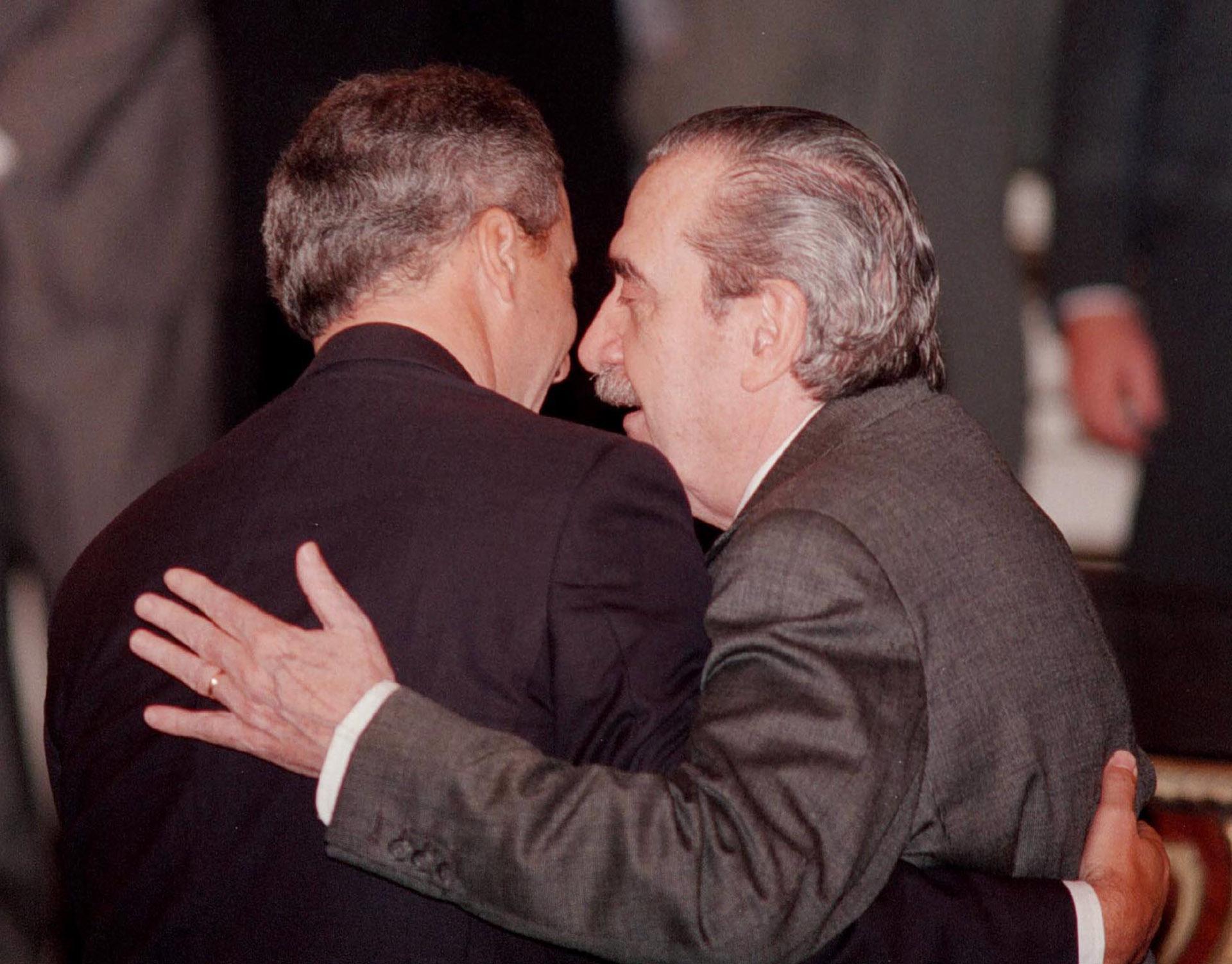 ConJuan Pablo Cafiero durante un acto en la Casa Rosada
