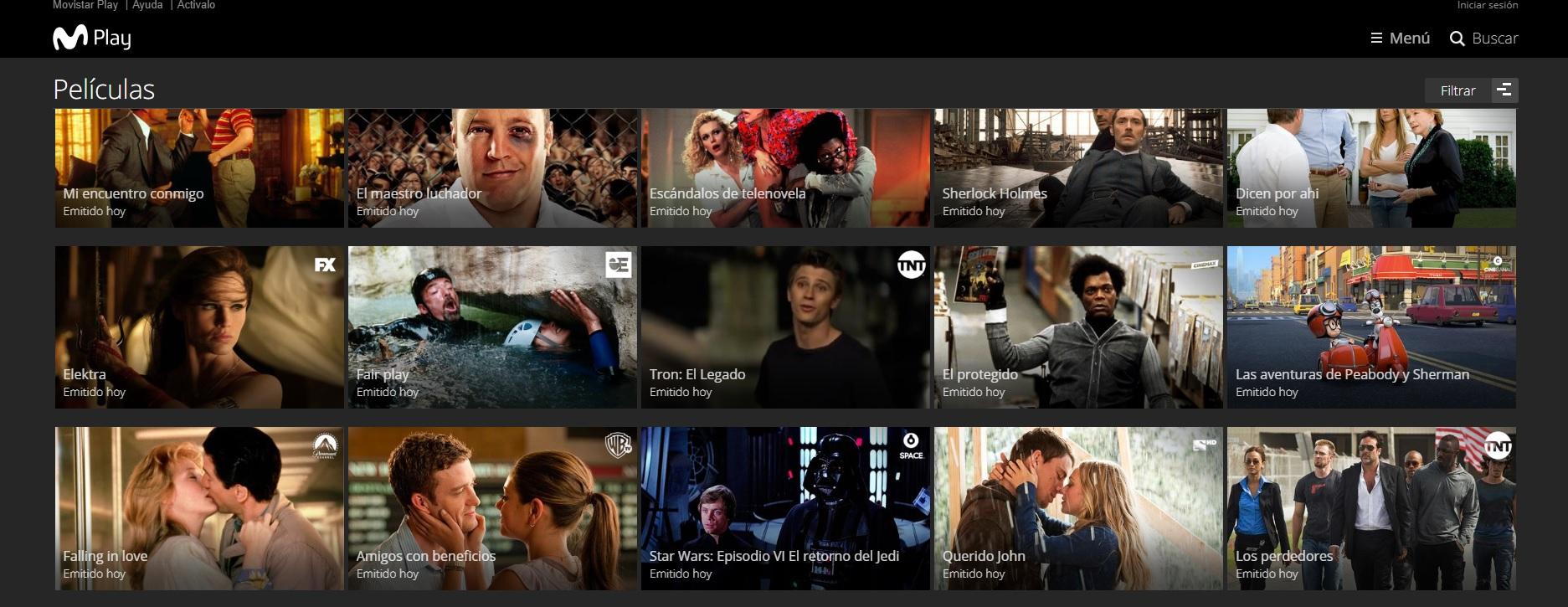 La plataforma ofrece acceso a canales de aires, así como a series y películas on demand