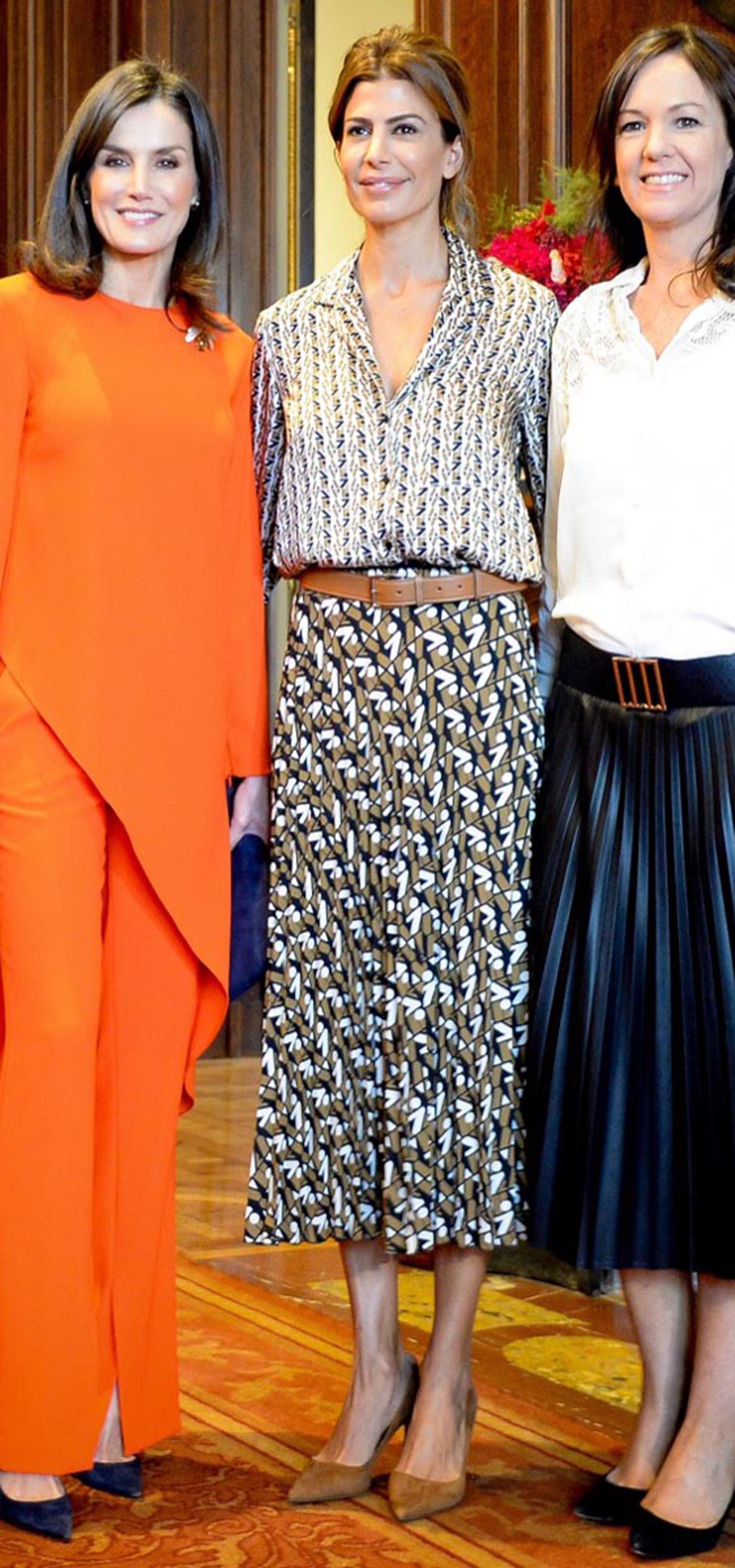El día que Letizia y Juliana coincidieron llevando diseños de Zara, la marca española.