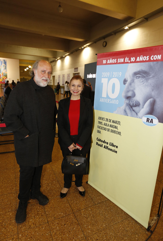 El empresario Daniel Grinbank y la diputada Karina Banfi