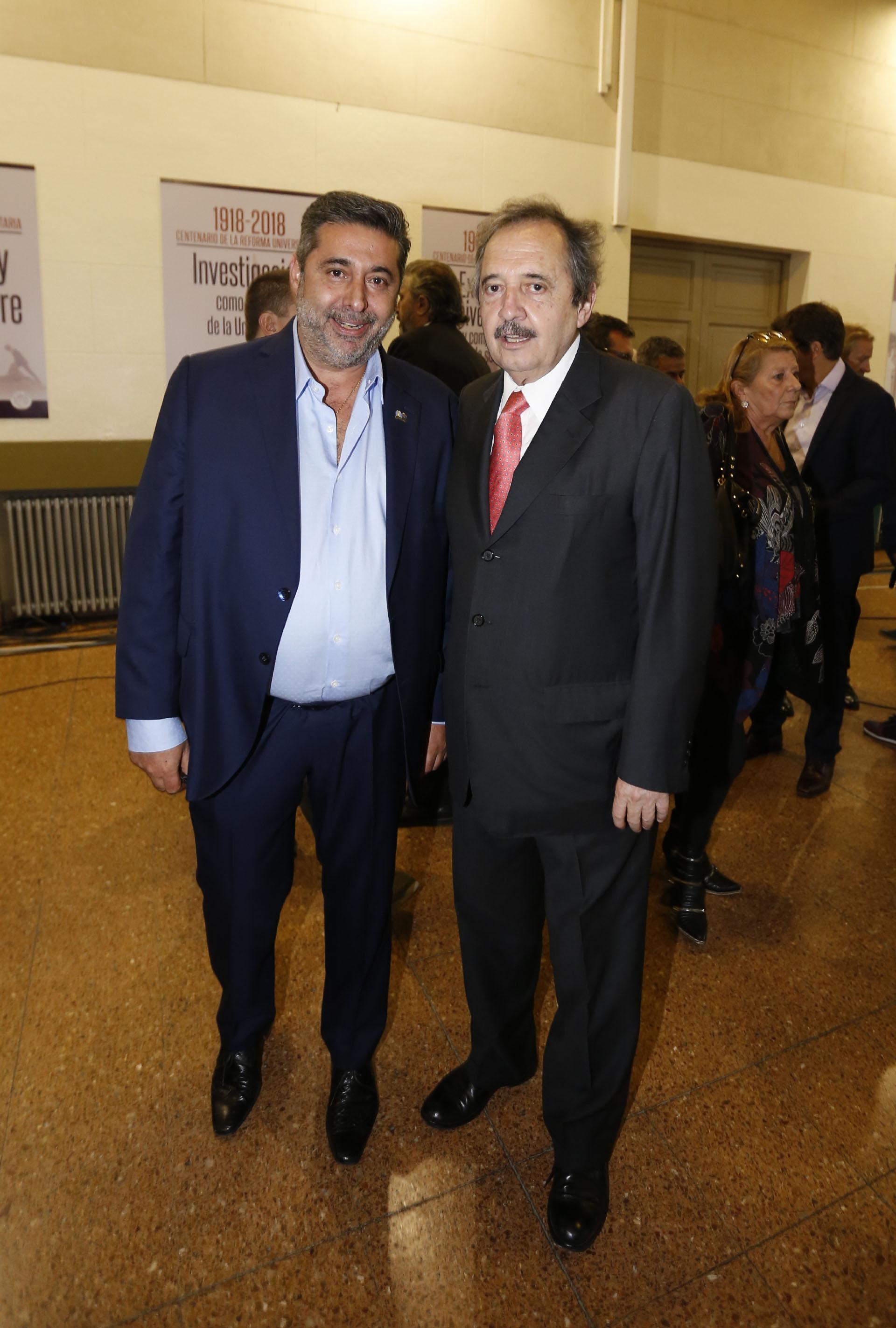 Daniel Angelici y Ricardo Alfonsín (Fotos: Nicolás Aboaf)