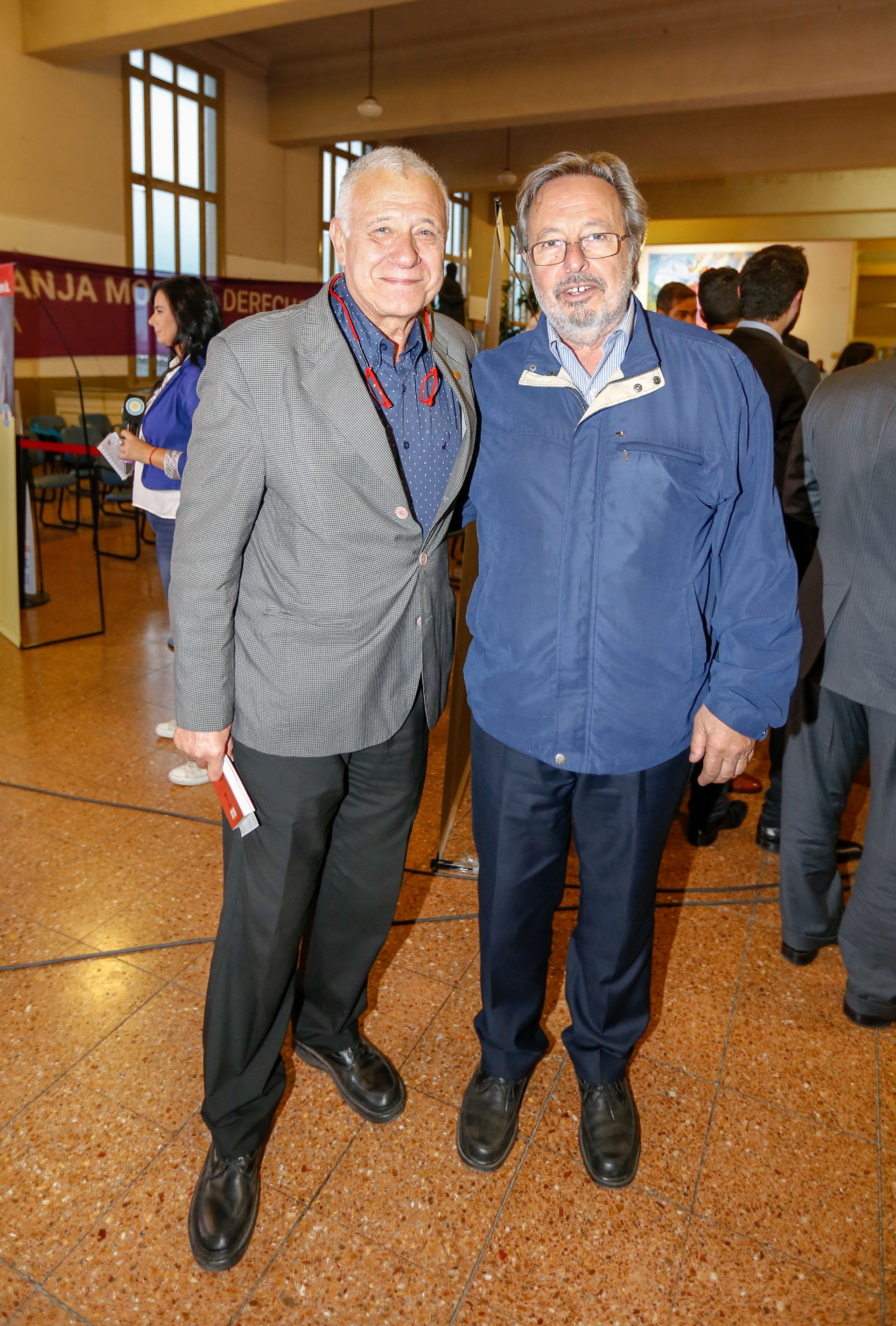 Carlos Campolongo junto al ex senador Pedro Del Piero