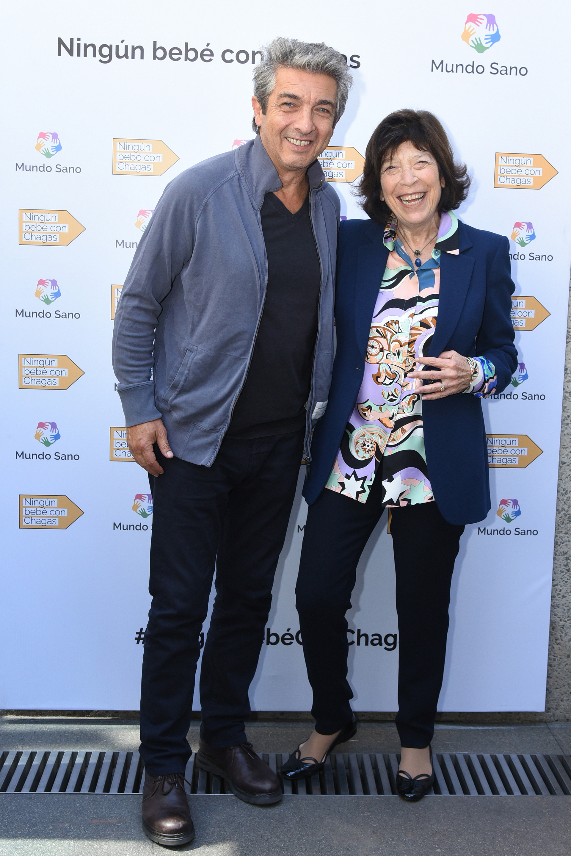 Ricardo Darín y Silvia Gold, presidente de Mundo Sano