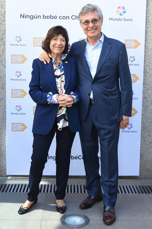 Silvia Gold, presidente de Mundo Sano y Hugo Sigman, CEO de Grupo Insud