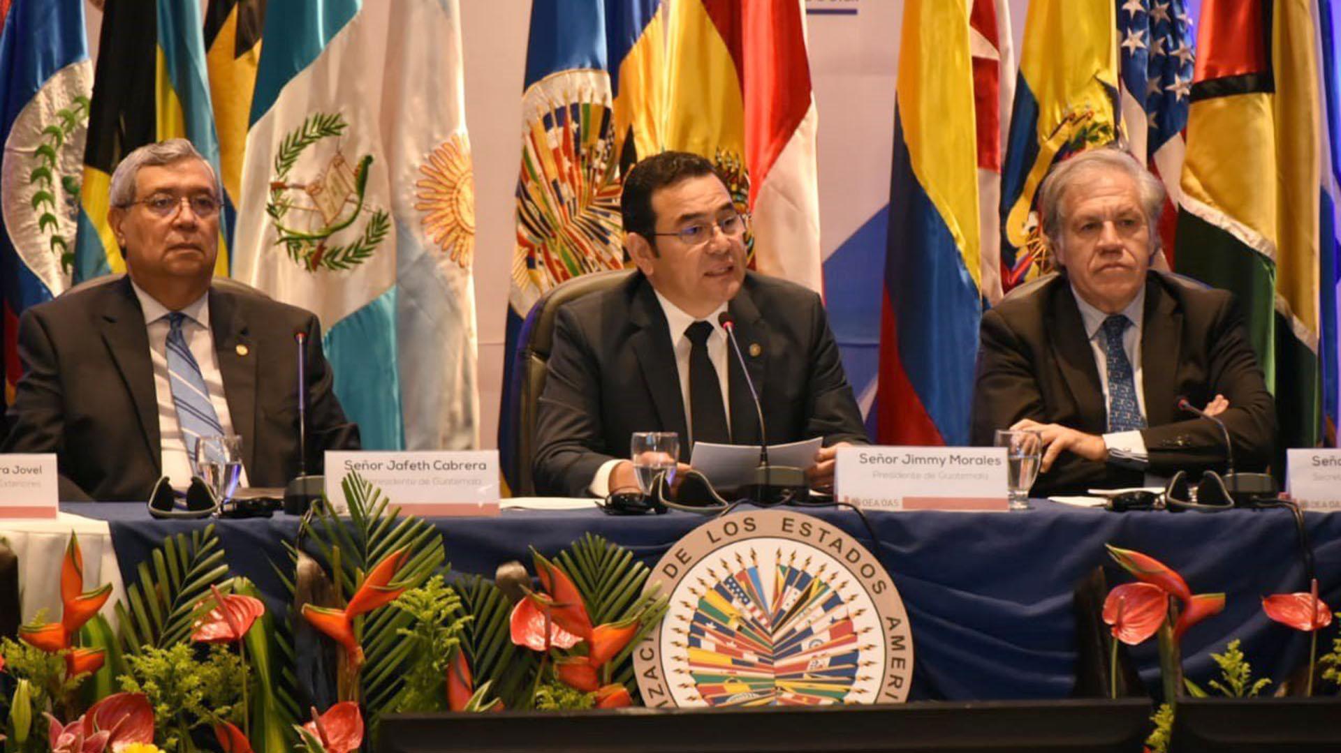 Luis Almagro, secretario de la OEA. Llegó a la Argentina para hablar sobre Venezuela y su reelección