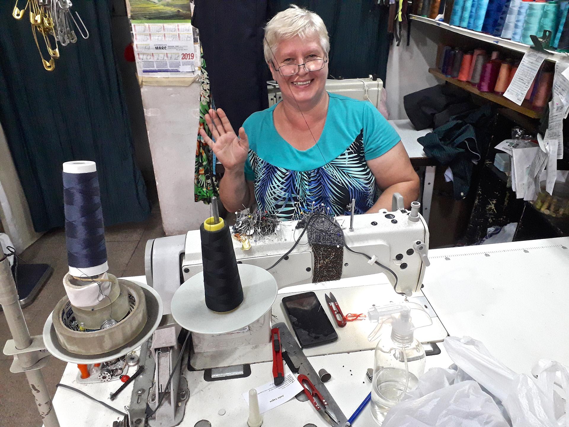 Svitlana Diachenko, costurera