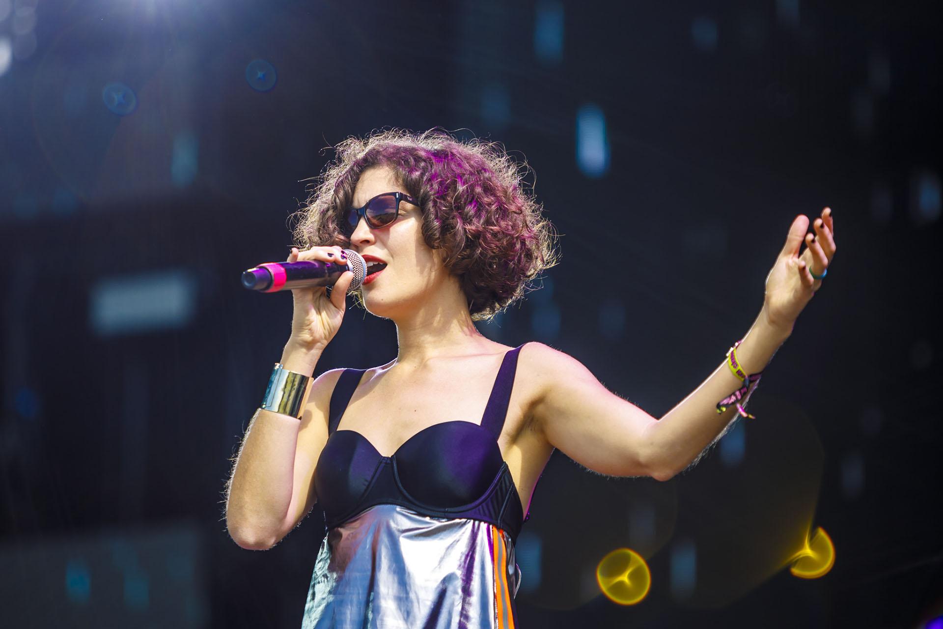 La compositora, cantante y pianista cordobesa se presentó en el Lollapalooza Argentina