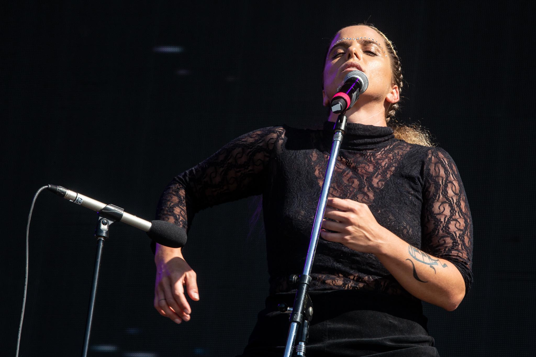 Las jóvenes músicas hicieron bailar a su público (Foto: Lollapalooza)