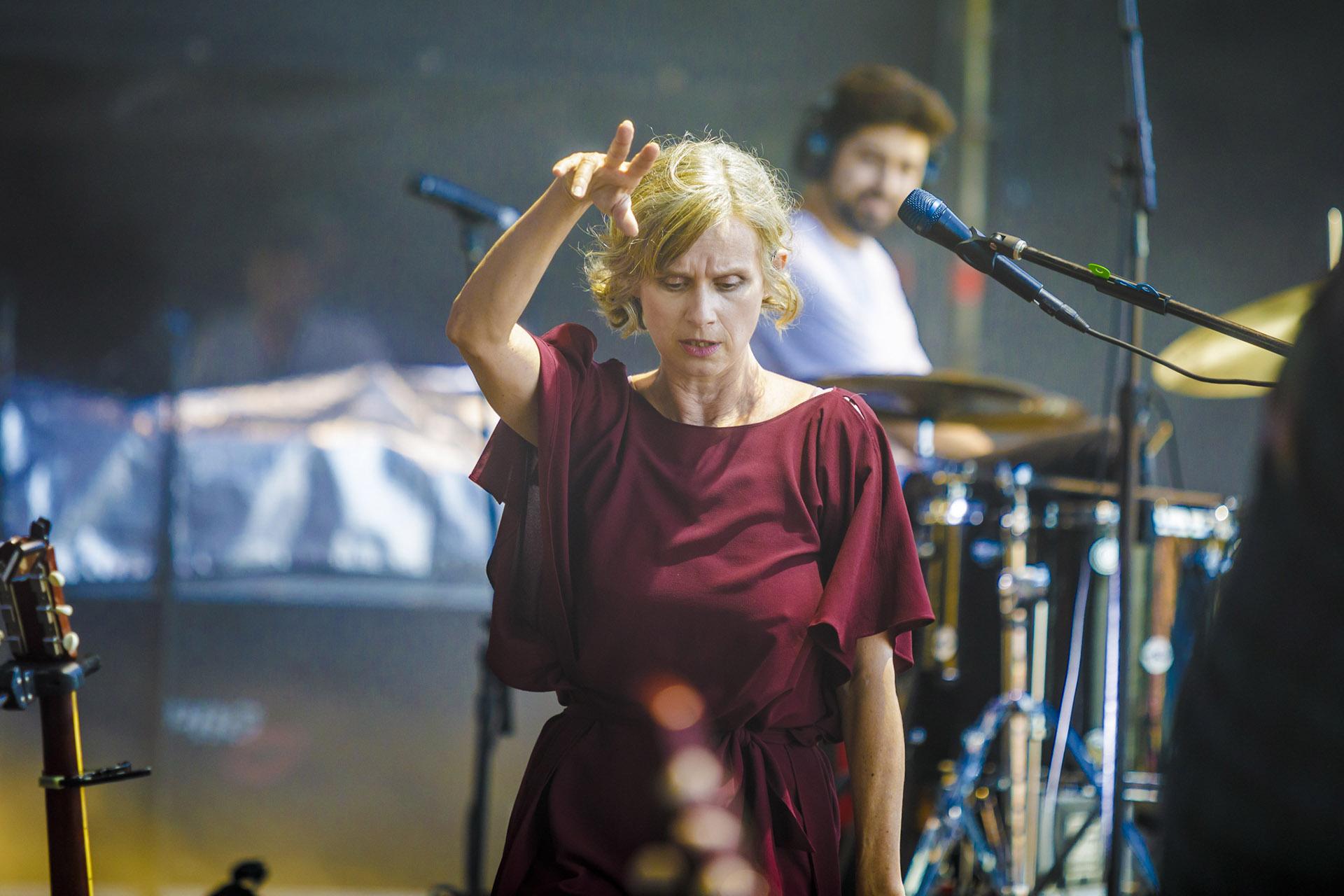 La actriz y cantante, en el Alternative Stage (Prensa Lollapalooza)