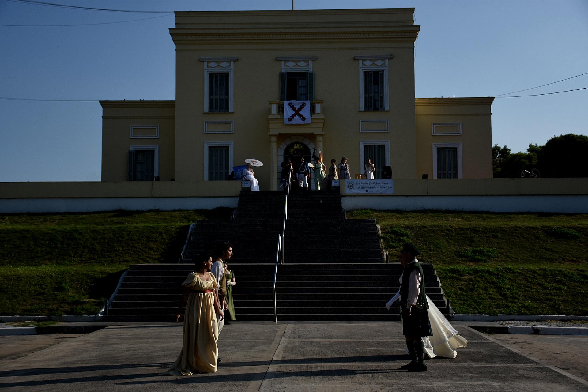 El evento inició a las 15 y se desplegó en el museo de la Casa Amarilla, réplica de la residencia del almirante Guillermo Brown e histórico emblema del barrio porteño de La Boca