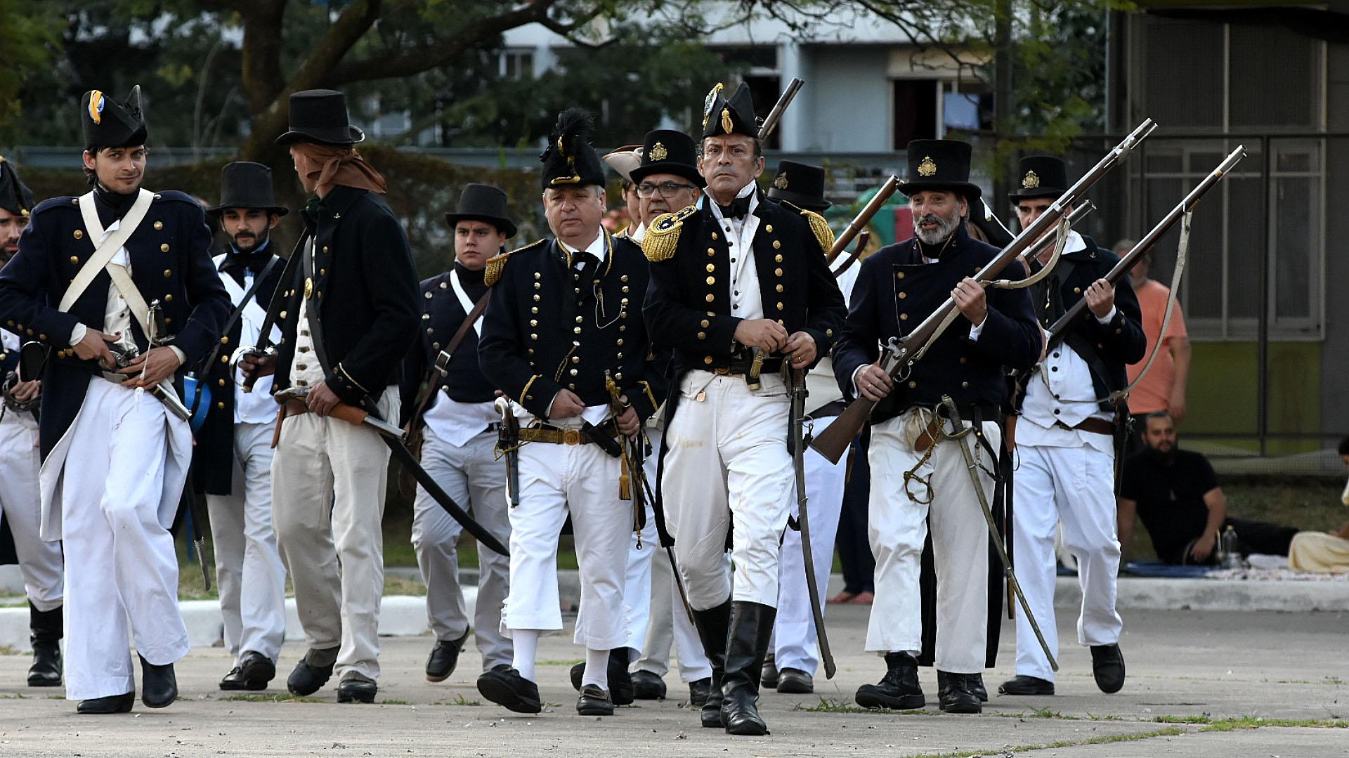 La ACARHi desarrolló la Toma de Monterrey y el Combate de la Isla Martín García, además brindó homenaje a Guillermo Brown, Hipólito Bouchard y Francisco Drummond