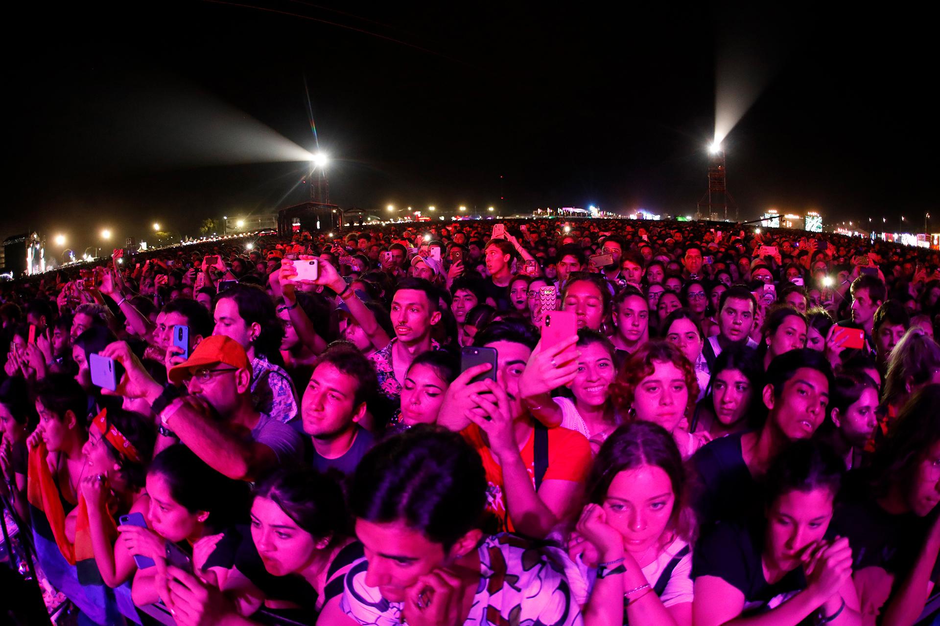Selfies y videos durante el show de Sam Smith (Chule Valerga)