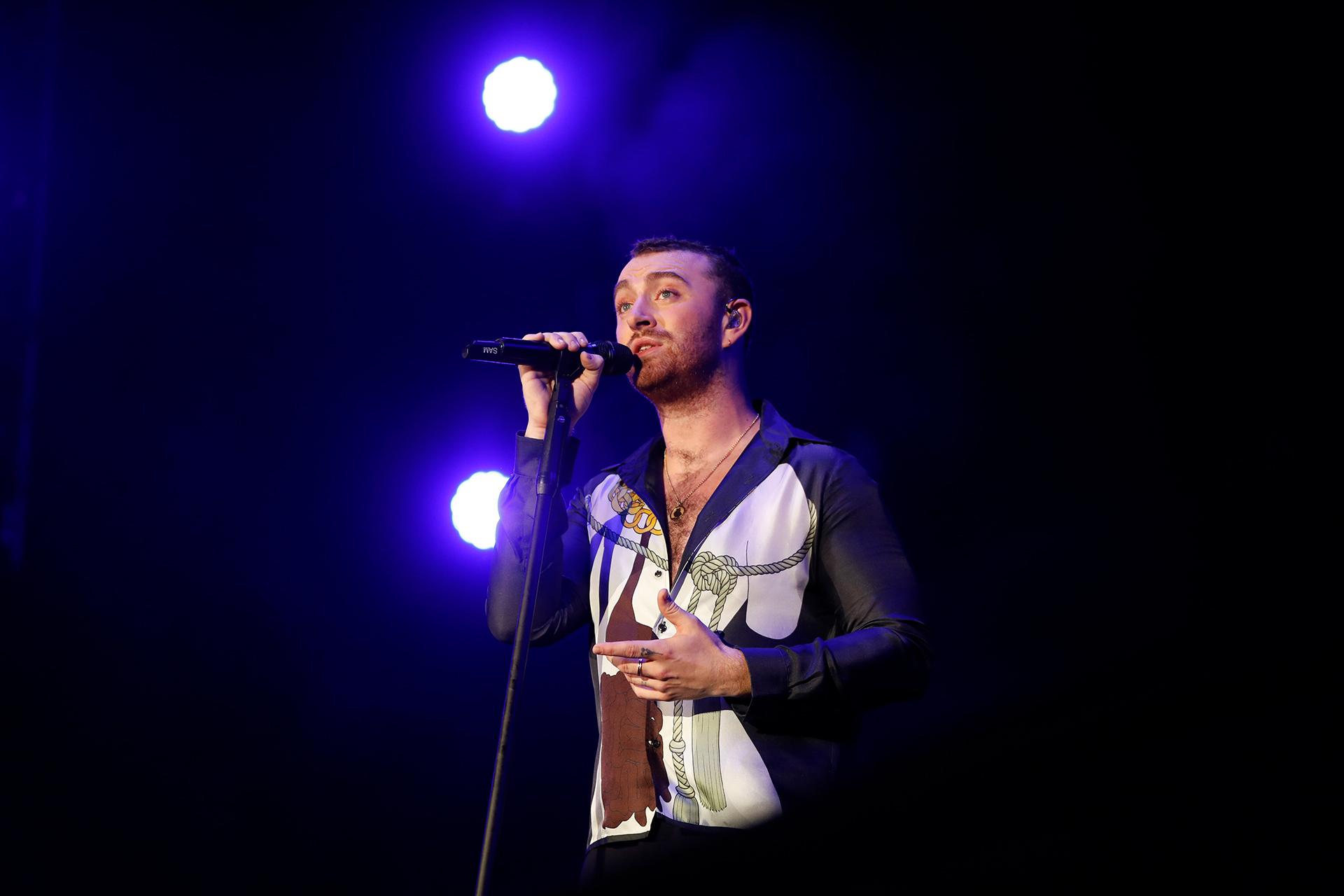 El compositor y cantante británico durante su show (Chule Valerga)