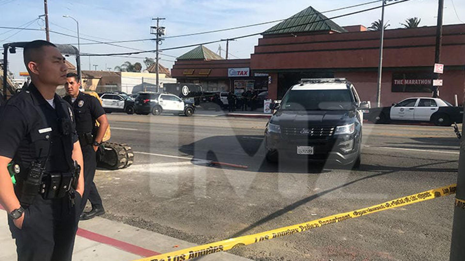 El lugar del tiroteo en Los Ángeles