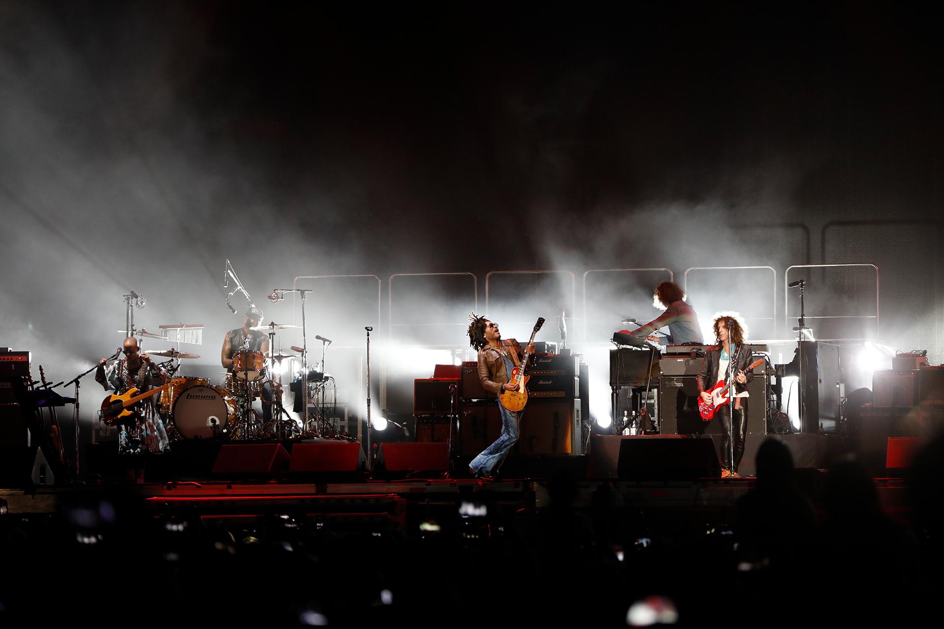 Lenny Kravitz y su banda (Chule Valerga)