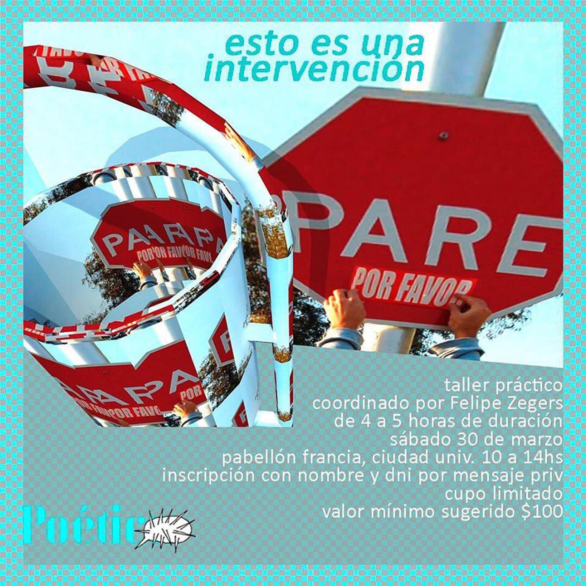 Uno de los flyers que anunciaba los talleres dictados por la pareja chilena en el marco del Congreso de la Lengua