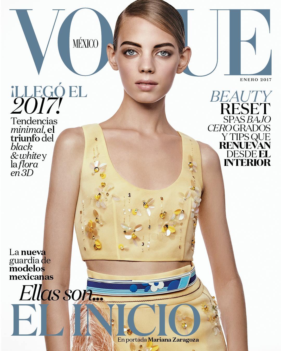 Mariana Zaragoza en su primera portada para Vogue (Foto: Vogue México)