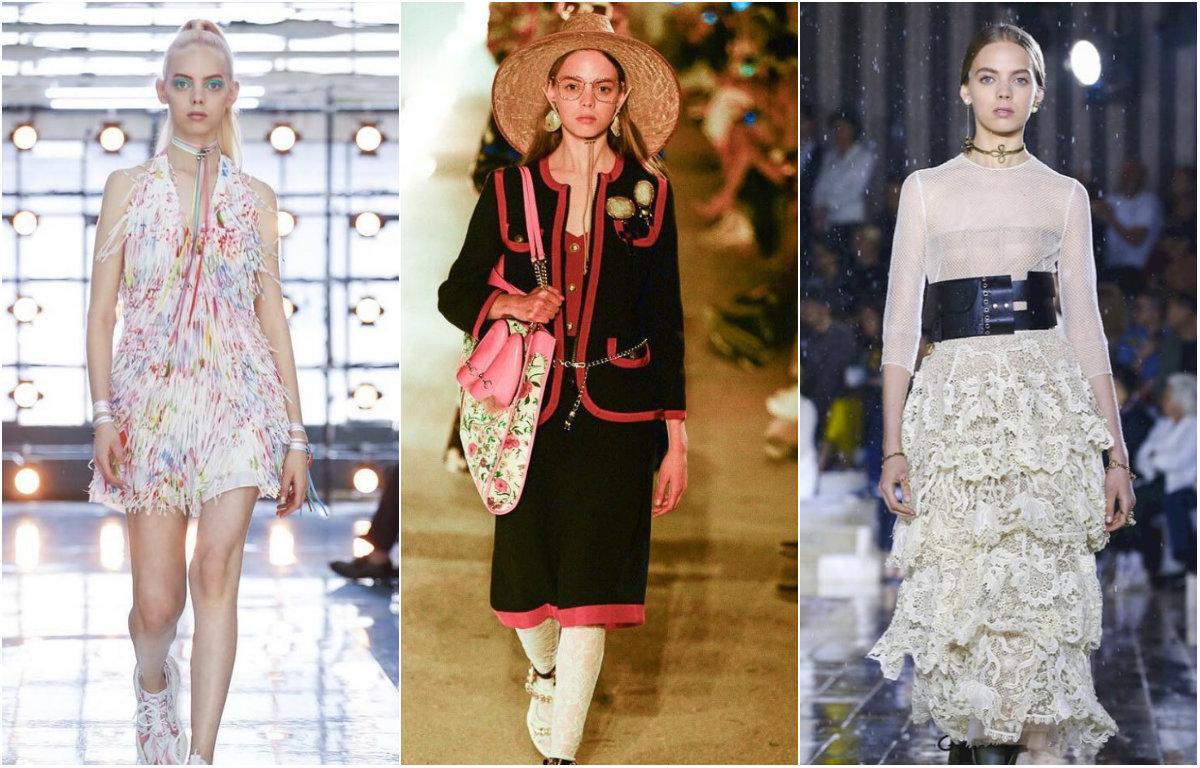 Izquierda: Mariana Zaragoza en desfile con By Bloss. Centro: La modelo para Gucci. Derecha: Mariana Zaragoza para Dior (Foto: Instagram @Mariana_Zaragoza)