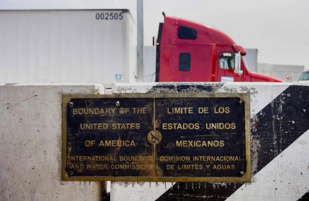 Límite entre EEUU y México (Crédito: @USChamber)