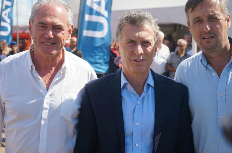 Macri junto a Atilio Benedetti y Gustavo Hein, la fórmula de Cambiemos en Entre Ríos