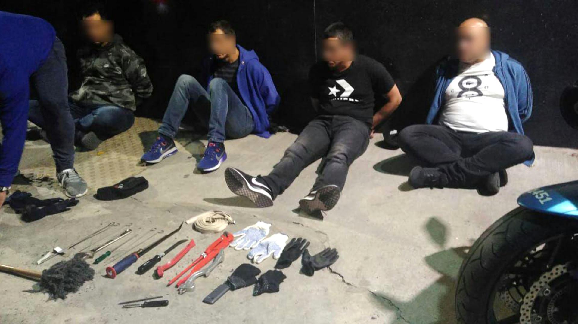 Fueron detenidos en el barrio de Almagro (Policía de la Ciudad)