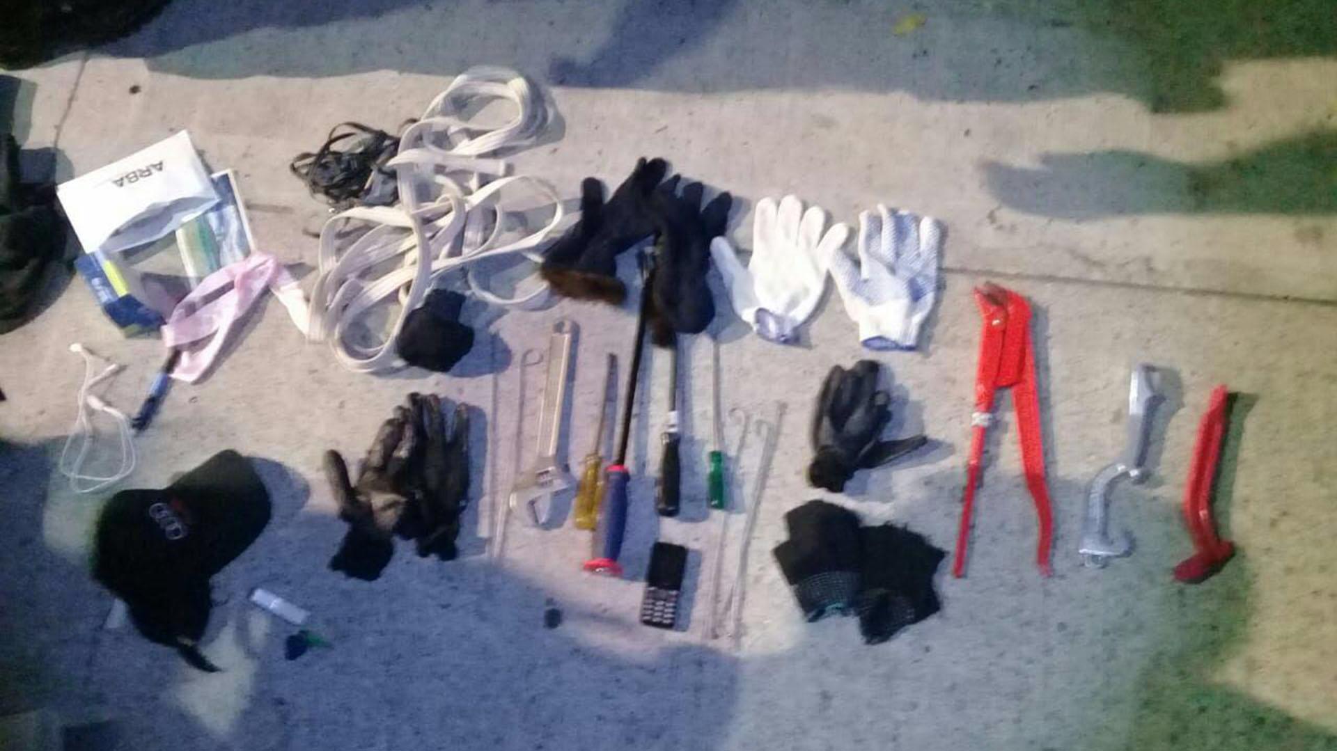 Parte de las herramientas (Policía de la Ciudad)