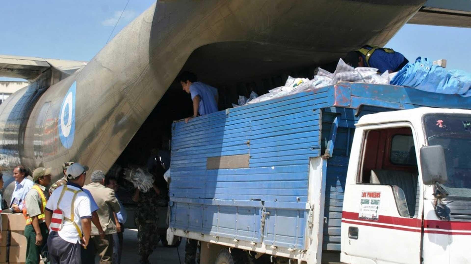 La ayuda humanitaria, de Argentina al mundo. Foto: Gentileza Cascos Blancos.