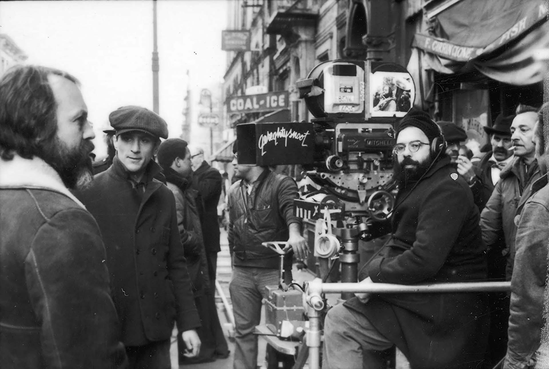 """Robert De Niro y Francis Ford Coppola en """"El Padrino: Parte II"""" (1974)"""