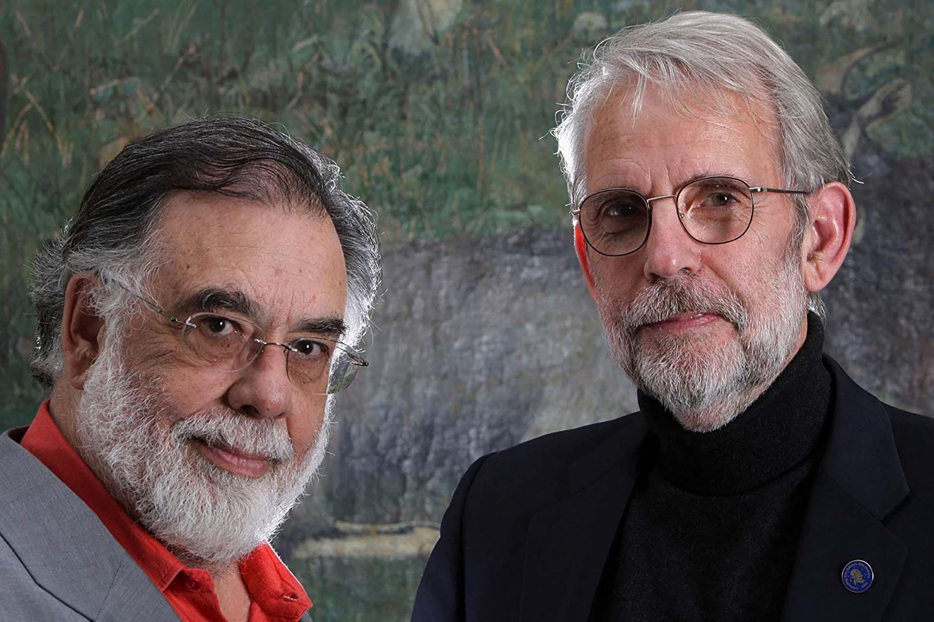 """Francis Ford Coppola junto a Walter Murch, editor cinematográfico y diseñador de sonido en """"El Padrino"""", """"La conversación"""" y """"Apocalypse Now"""""""