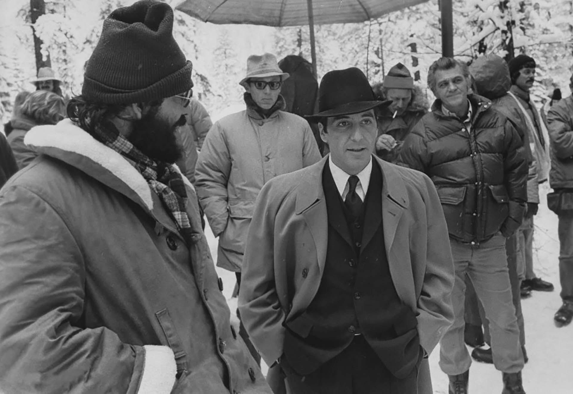 """Al Pacinoy Francis Ford Coppola en """"El Padrino: Parte II""""(1974)"""