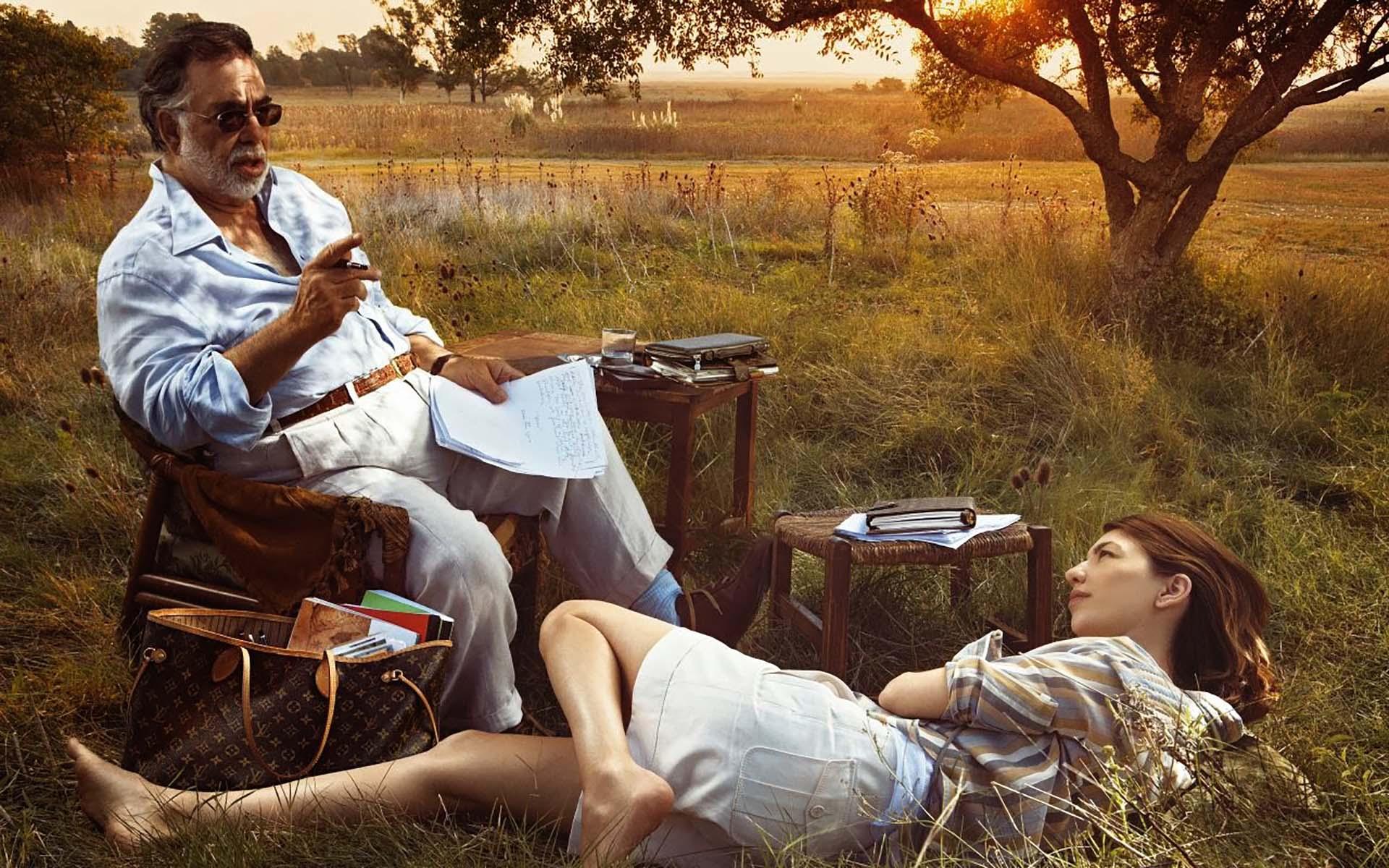 Francis Ford Coppola junto a su hija, Sofia Coppola, que también siguió sus pasos en la dirección