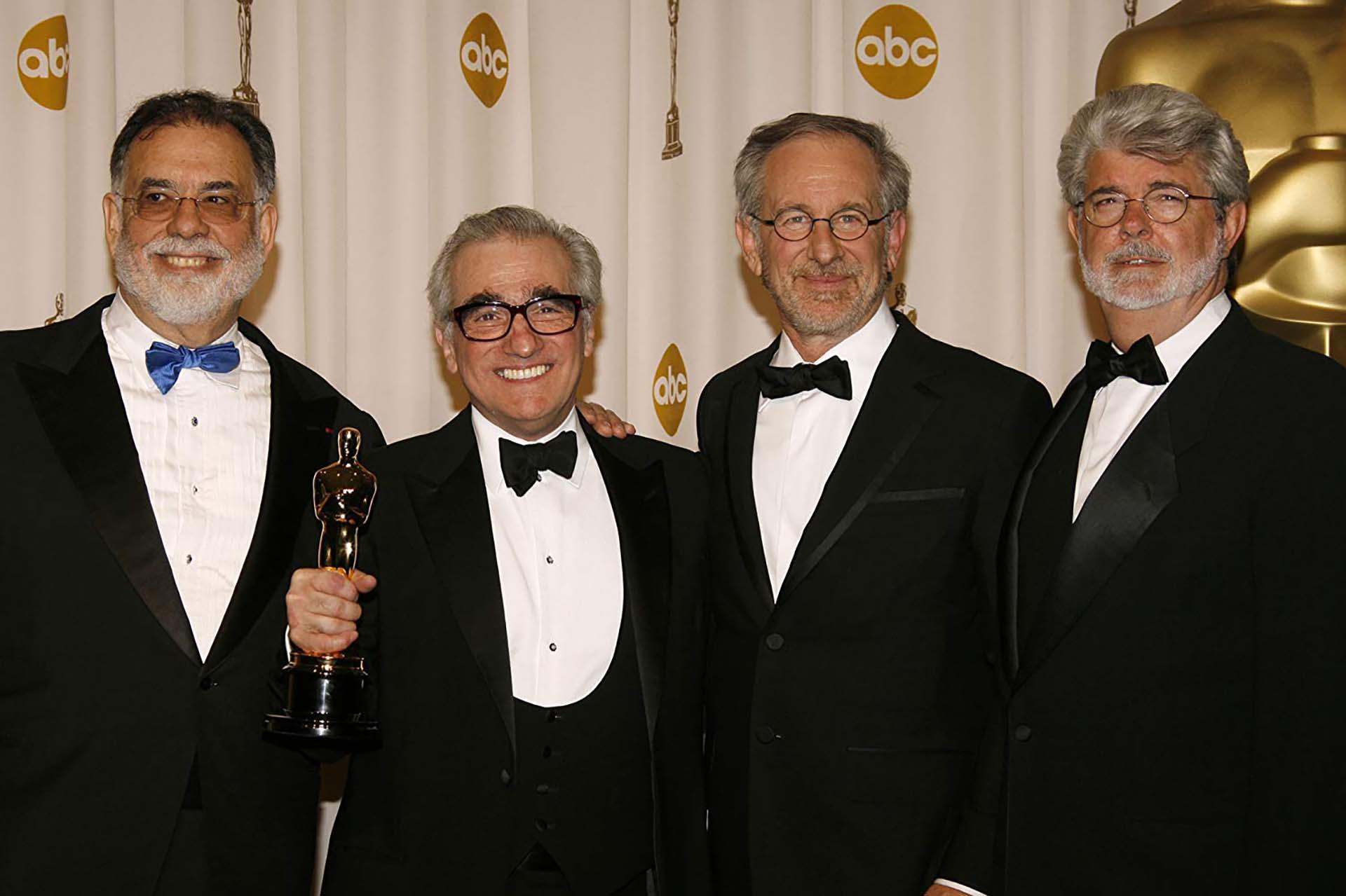 George Lucas, Martin Scorsese, Steven Spielberg,y Francis Ford Coppola en los Oscar (2007)