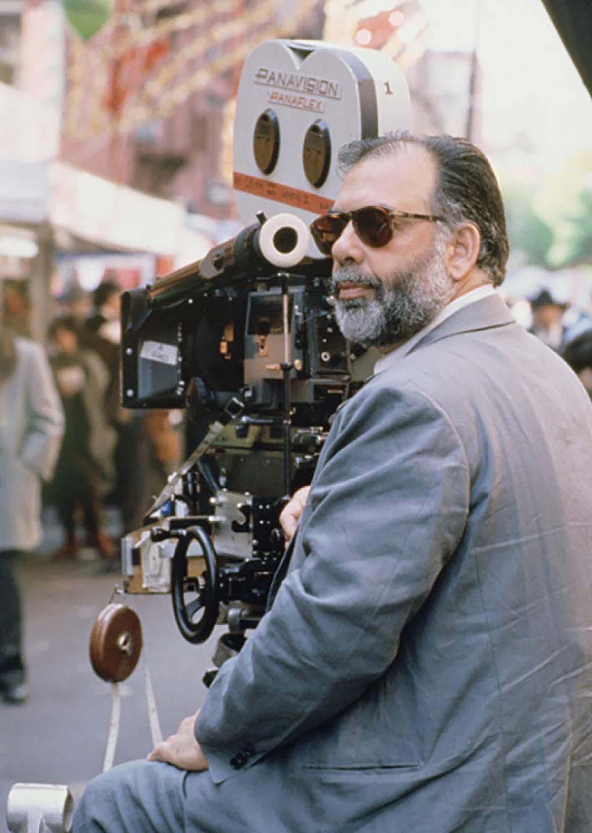 """Francis Ford Coppola durante el rodaje de """"El Padrino: Parte III"""" (1990)"""