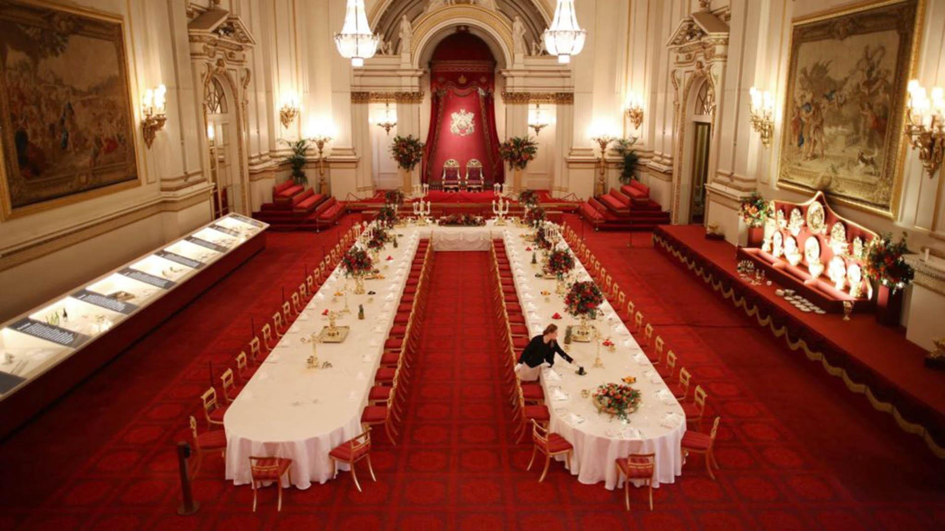 El gran salón de baile. Lo construyó la reina Victoria y actualmente se usa para ceremonias y cenas de gala.