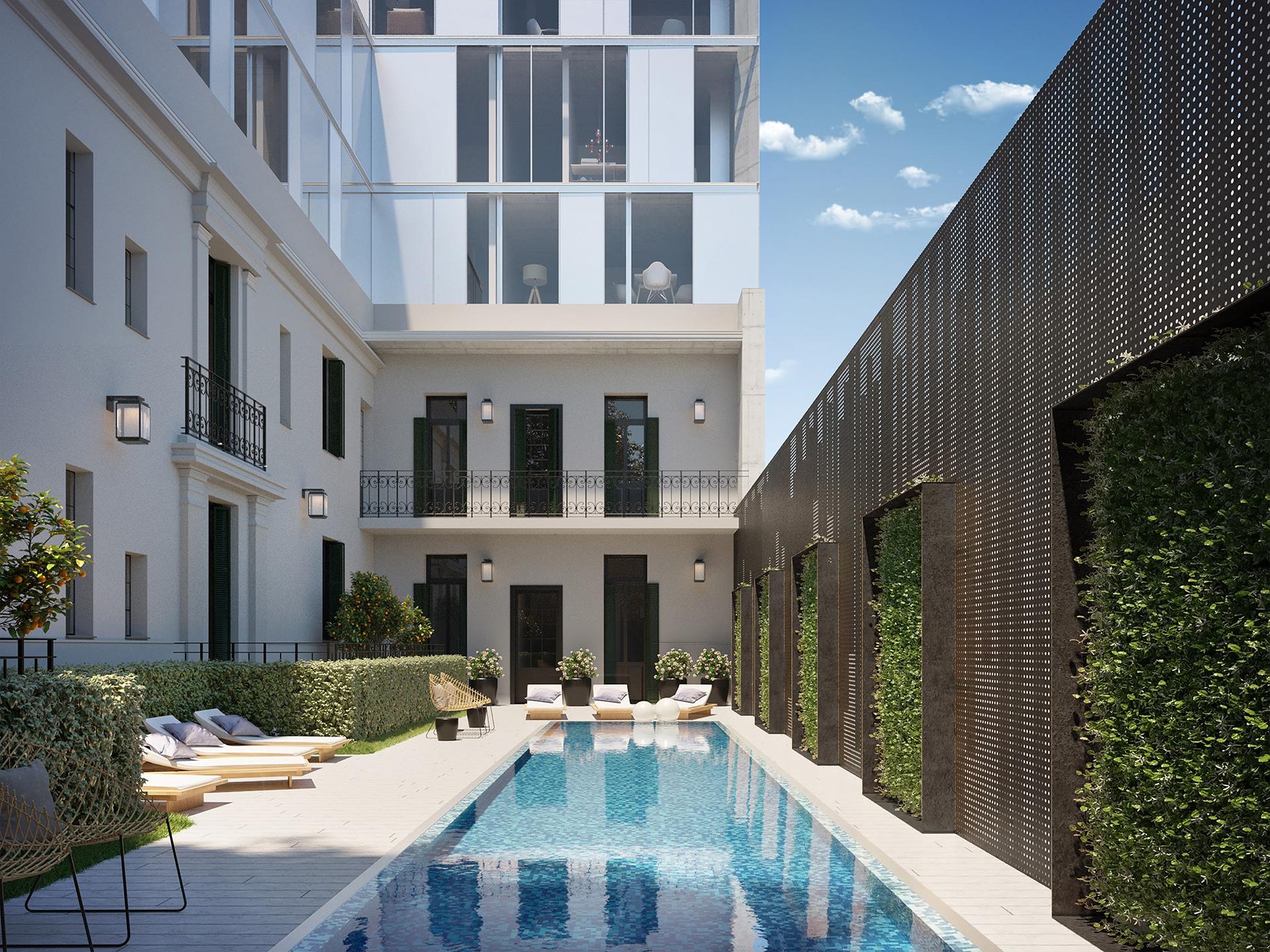 El Palacio Cabrera es un proyecto de viviendas y oficinas que conjuga el inmueble preexistente, que se mantendrá íntegramente original.